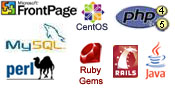 Frontpage MySQL CentOS PHP Ruby Perl Java and more Images